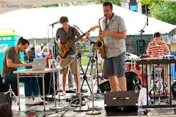 At the Iowa City Jazz Festival. Photo by Andrea Canter