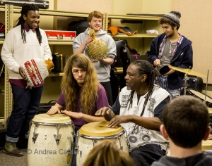 Babatunde Lea conducting a workshop. Photo by Andrea Canter