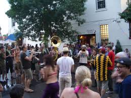 The Brass Messengers at a previous Bastille Day celebration.