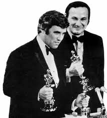 "Bacharach & David with Oscars for ""Raindrops Keep Falling On My Head"""