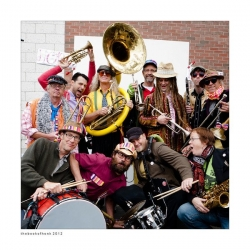 The Brass Messengers will bring their antics to Bastille Day in Minneapolis.