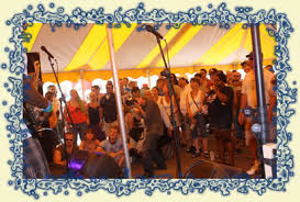 One of the tents at the Roots, Rock, & Deep Blues Festival