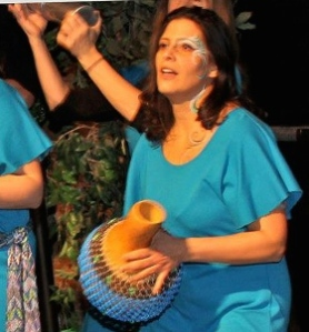 Ms Quiroz, leader of Samba Meu, and shaker of Shakeres