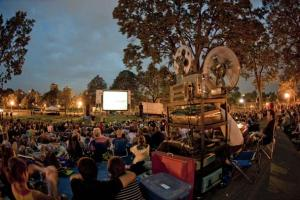A summer tradition: Movies and Music in the Park. Photo: fasthorseinc.com